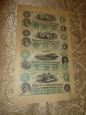 Obsolete Currency Florida Tallahassee Sheet Rail Road Railroad Uncut Paper Money