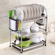 Brand New 3 Tires Stainless Steel Dish Drainer Rack