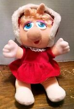 VINTAGE BABY MISS PIGGY PLUSH Stuffed Animal Muppet Babies Henson 1987 80s