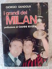 A.C. MILAN CALCIO GIANNI RIVERA - LIBRO I GRANDI DEL MILAN  - G. GANDOLFI 1979