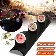 """2"""" 3 in 1 Tachometer 8000RPM Water Temperature 100PSI Oil Pressure Gauge Meter"""