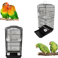 "37"" Bird Parrot Cage Cages Canary Parakeet CockatielFinch Bird Cage Black"