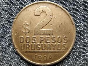 Uruguay 2 Pesos Uruguayos Coin 1994