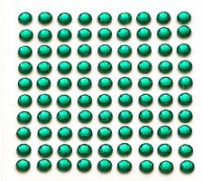 260 x 5mm Self Adhesive Green Diamante Stick on Crystals Sticky Rhinestone Gems