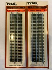 """Tyco #417 HO Scale Lot of 2 Packages of Tru-Steel 9"""" Straight Track (4 each)"""