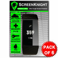 ScreenKnight FITBIT Charge 3 / iii SCREEN PROTECTOR Military Shield - Pack of 6