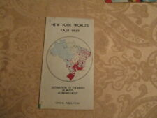 1939 NEW YORK WORLD'S V/RARE DISTRIBUTION OF THE HERDS IN BRAZIL VG CONDITION