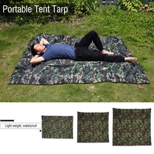 Camouflage PortableTent Tarp Lightweight Rainproof Mat Rain Tent  Shelter❤AU