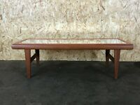 60er 70er Jahre Teak Tisch Couchtisch Coffee Table Danish Design with Mirror 60s