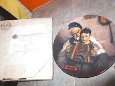 "Norman Rockwell Limited Edition Plate "" The Music Maker "" 5th in Series with Box"