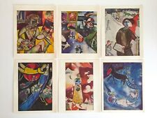 RARE VTG MID CENTURY 1960'S MARC CHAGALL COLOR LITHOGRAPH PRINTS FOLIO SET OF 6