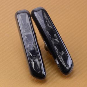 2X Smoke Lens Side Marker Lights Turn Indicator Fit for BMW 3 Series E46 4Dr 2Dr
