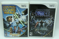Lot 2 Nintendo Wii Star Wars The Clone Wars + Force Unleashed Complete Tested