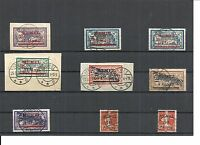 Memel, Litauen 1921, Einzelmarken aus MiNrn: 36 - 71 o, geprüft Huylmans BPP