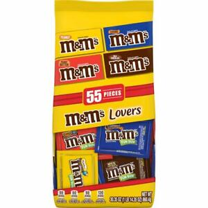 M&M'S Lovers 55 Chocolate Candy Fun Size Variety Mix Bag, 30.35 oz 02/2021+