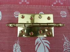 "3 X 4"" solid brass hinge with finial brand new"