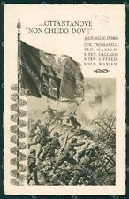 Militari Reggimentali 89º Reggimento Fanteria Salerno Beltrame cartolina XF5647