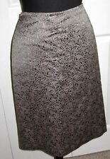Etro Milano Floral Rose Embossed Gray Lined Skirt Sz 40/4-6 US - NEW-Rt $695