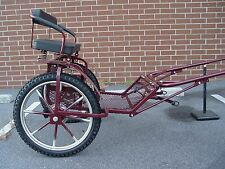"Pony Carriage 2-wheels for mini horses & small ponies rim16' wheel21"" Burgundy"