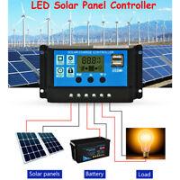 LCD Solar Panel Controller 10/20/30A 12V/24V Battery Regulator Charge Protection
