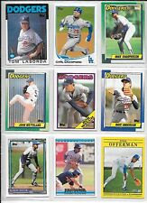Tom Lasorda plus 8 more LA Dodgers baseball card lot