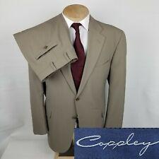 Coppley Minelli Mens Suit 44R Beige 2 Piece 38x31 2 Button