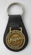 Vintage Haynes Jeep Leather Where the Fun Begins Key Chain