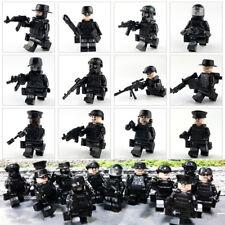 12pcs/set Military Special SWAT Police Building Bricks Figures Educational Toys