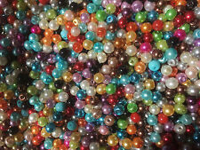 200 Glass Pearl Beads.  4mm  Beautiful  MIXED COLOURS jewellery Crafts