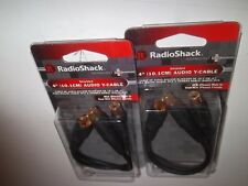 "RADIO SHACK 4202536 (lot-of-2) 4""  AUDIO Y-CABLE RCA M TO DUEL RCA FM 42-2536"