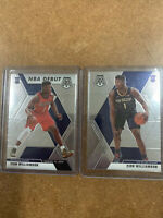 Zion Williamson 2019-20 Panini Mosaic Base #209 & NBA Debut RC #269 Pelicans Lot