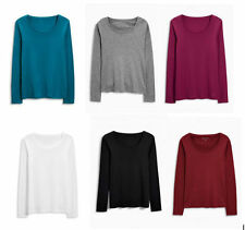 Next Women's No Pattern Long Sleeve Sleeve Hip Length Tops & Shirts
