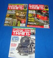 Classic Toy Trains Magazine Lot of (3) All from the Year 2016-2017