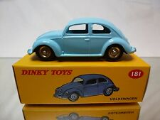 DINKY TOYS ATLAS 181 VW VOLKSWAGEN BEETLE - BLUE 1:43 - MINT IN BOX