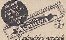 Y3723 Aspirina Bayer - Pubblicità d'epoca - 1937 vintage advertising