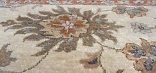 Stunning Vintage 1950-1960s Muted Colors Wool Pile High-End Oushak Rug 8x8ft