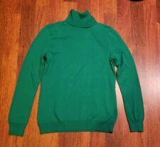Polo Ralph Lauren Women's Green Pullover Turtleneck Modal Blend Sweater Size S