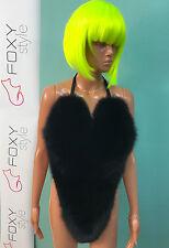 Incredible Black Fox Fur Bikini body.