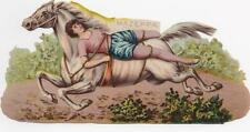 Victorian Die Cut Scrap Mazeppa Tied to Horse Lord Byron c1880