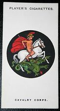 British Cavalry Corps   World War 1 1914/18  INSIGNIA CARD # VGC
