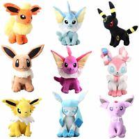 12'' Big Pokemon Evolution of Sit Eevee Sylveon Umbreon Vaporeon Plush Doll Toy