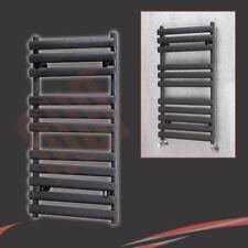 "500mm (W) x 930mm (H) ""Brecon"" Negro de diseño de radiador toallero Baño Radiador"