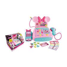 Box Cash Register Disney Minnie Mouse Toy Children Reader Cards Microphone