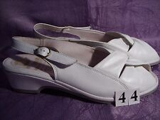 Wörishofer Naturform Lady Fashion Sandaletten weiß Leder Gr.40 Absatz 3,5 cm