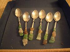 CREATIVANDO set 6 cucchiaini caffè decorati con pietre di fiume EDIZIONE LIMITAT