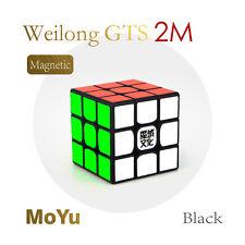 Moyu GTS2M 3x3x3 Magic Brain Teaser Puzzle Cube Speed Magnet Cube Toy Black