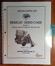 Western Land Roller Bearcat Grind-O-Mix 63SA-2A 63SA-2ATT 63SA-2ATT Parts Manual