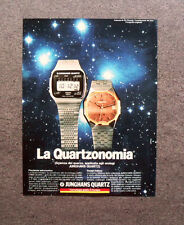 [GCG] M975 - Advertising Pubblicità - 1979 - JUNGHANS QUARTZ