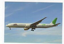 Japan Airlines Boeing B777-346 ER Aviation Postcard, A718