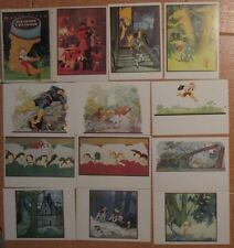 18 Russian Post Card Set Fairy-tale Boy Finger Pc Sharl Piero Kid Child ren Art